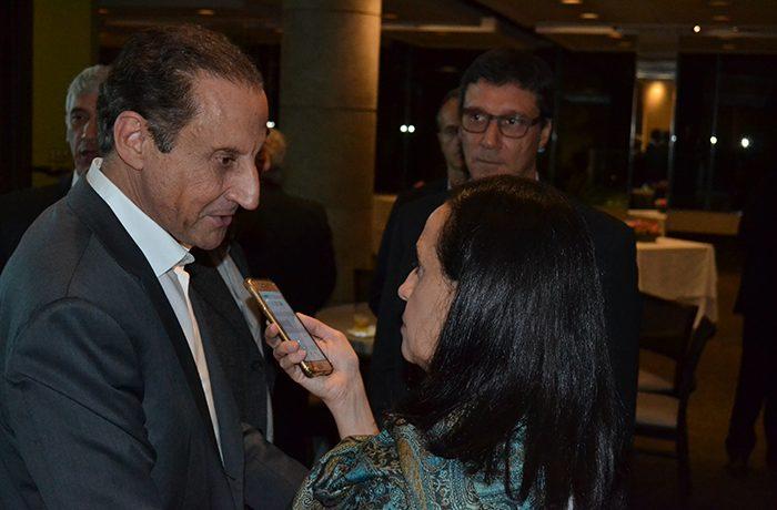 Entrevista com Paulo Skaf durante posse da diretoria do Siamfesp